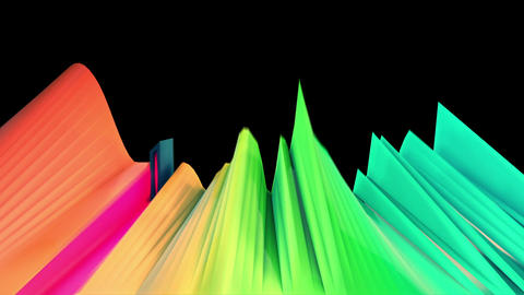 Abstract audio visualizer fader cutting waveform Animation