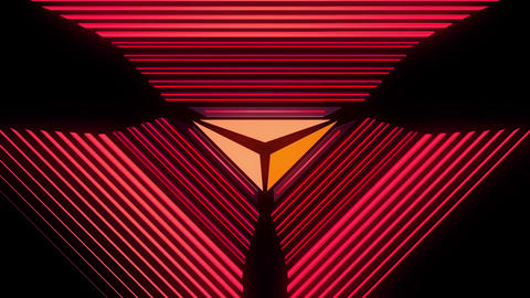Abstract audio visualizer glowing triangle meters CG動画