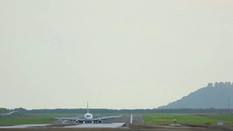 On the runway Footage