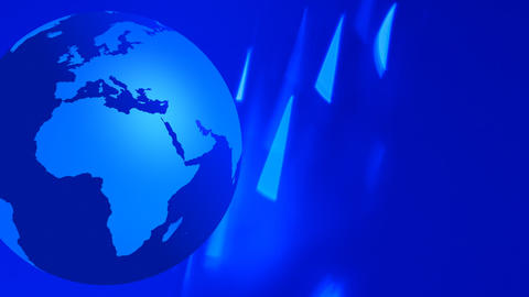 Globe earth animation blue flashing background Footage