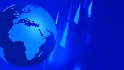 Globe earth animation blue flashing background Footage