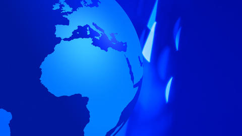 Globe earth animation blue flashing background Stock Video Footage