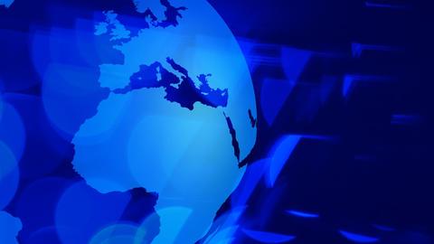 Rotating world globe technology background Footage