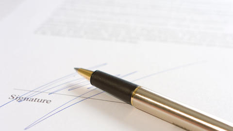 Businessman Signing Contract Document stock footage