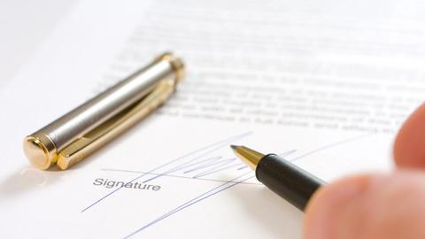Signature writing Footage