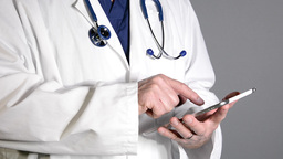 Doctor using tablet Footage