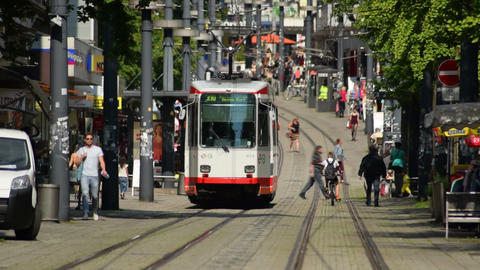 tramway witten city time lapse 11591 Footage
