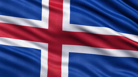 4K Flag of Iceland seamless loop Ultra-HD Animation
