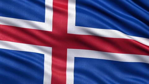 4K Flag of Iceland seamless loop Ultra-HD Animation