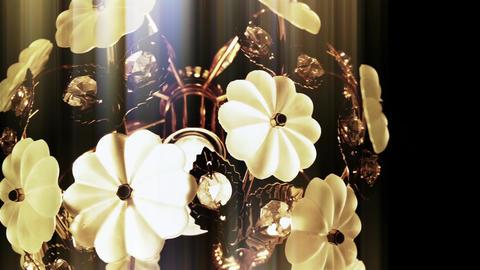4 K Old Fancy Chandelier Light In A Dark Room 2 St stock footage