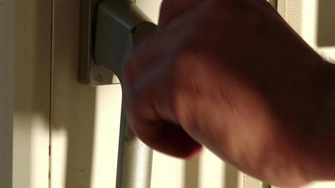 Opening Door Close Up 1 stock footage