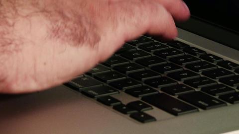 Using Laptop Closeup 1 Footage