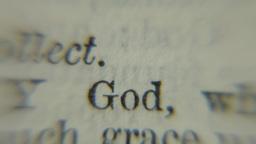 Book old religion words evil god Footage