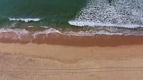 Waves Crashing on Beach Footage