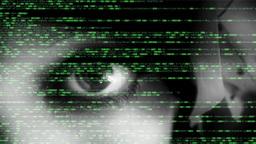 Source code eye macro woman dark Footage