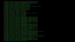 Source code hacker packet sniffing green on black Footage