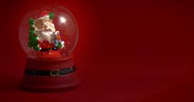 Santa Claus Snow Globe Red 01 stock footage
