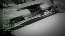 Source code typewriter Footage