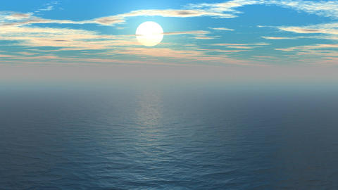 Sunset over the sea Animation