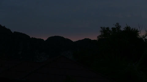 Circuit Mountains And Trees At Sunset stock footage