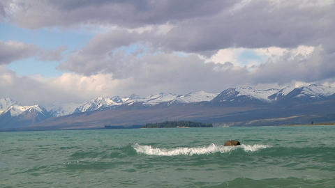 Waves on a lake Stock Video Footage