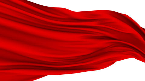 Red Cloth fluttering in the Wind Stock Video Footage