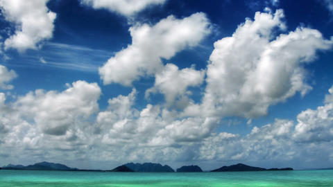 Islands and sky time lapse Stock Video Footage