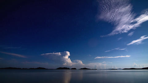 Night sea storm time lapse Stock Video Footage