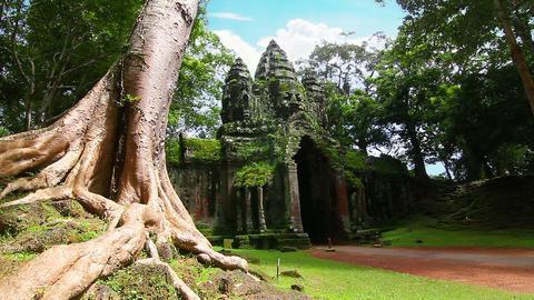 Angkor Thom temple time lapse loop Footage