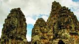 Bayon Temple Zoom Time Lapse stock footage