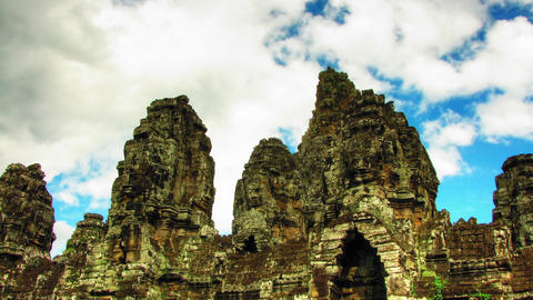 Bayon temple zoom time lapse Stock Video Footage