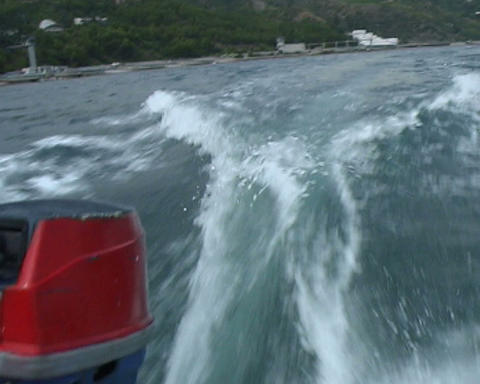 boat speed Stock Video Footage
