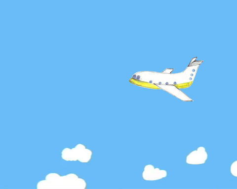 airplane child animation Stock Video Footage