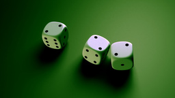 dice with green background Stock Video Footage