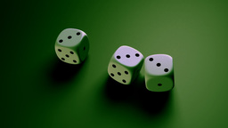 dice with green background Animation