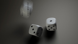 white dice Stock Video Footage