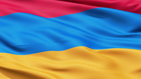 Waving Flag Of Armenia Animation