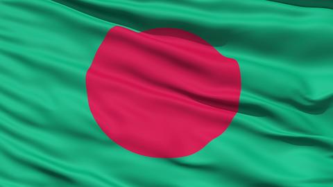 Waving Flag Of Bangladesh Stock Video Footage