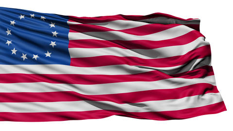 United States Betsy Ross Flag Stock Video Footage