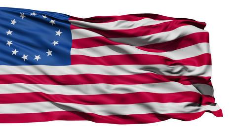 United States Betsy Ross Flag Animation