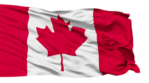 Fluttering Flag Of Canada Animation