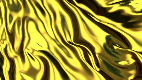 Luxurious Rippled Gold Fabric Animation