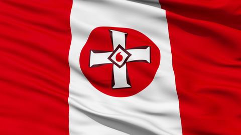 Waving Ku Klux Klan Flag Animation
