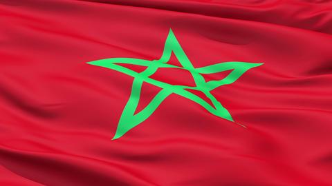 Waving Flag Of Morocco Animation