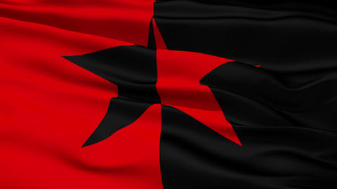 Red and Black Star Flag Stock Video Footage