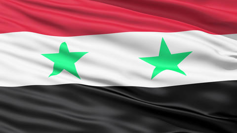 Waving Flag Of Syria Stock Video Footage