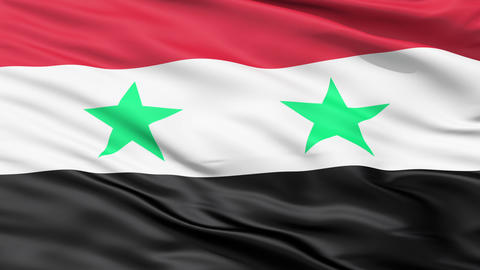 Waving Flag Of Syria Animation