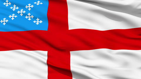 Flag Of The Episcopal Church stock footage