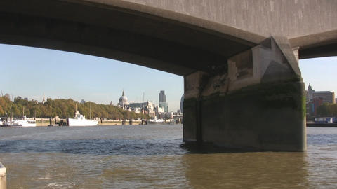 London River Thames Stock Video Footage