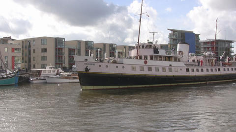 Ferry in Bristol u k Footage